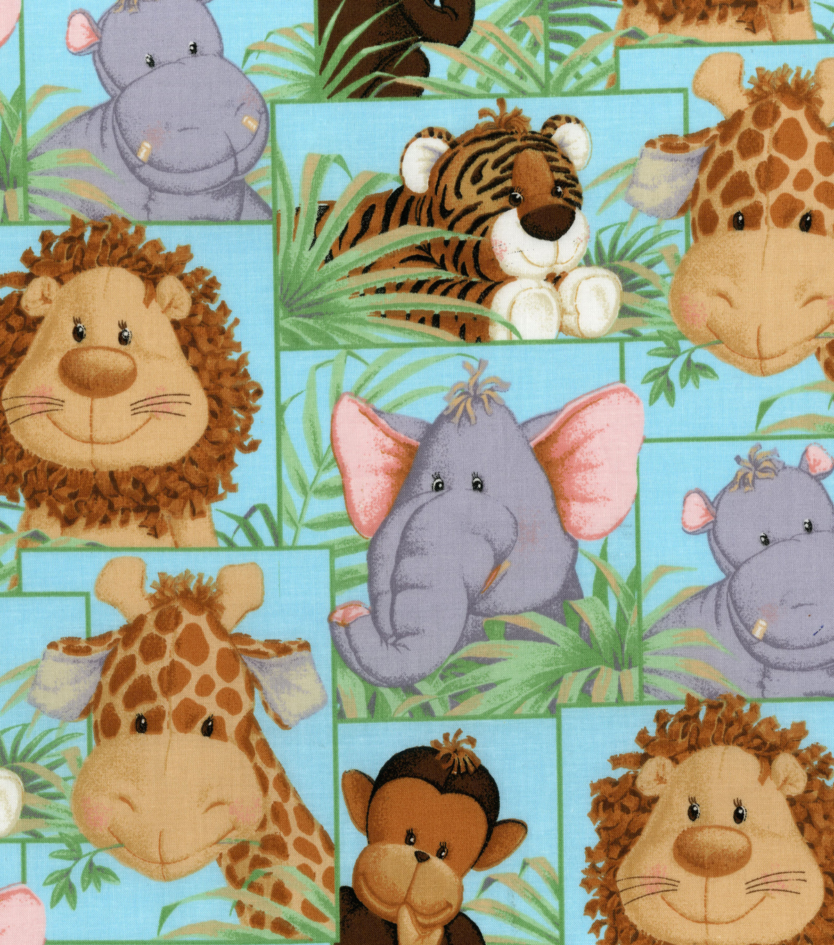 Picture of: Animal Baby Quilt Fabric Panels