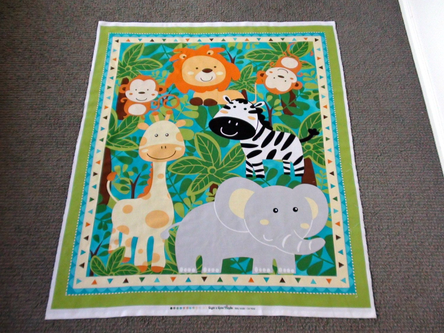 Picture of: Animal Fabric Panels for Baby Quilts