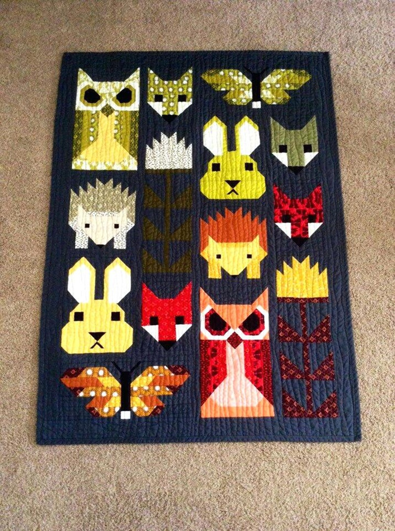 Image of: Animal Homemade Baby Quilts