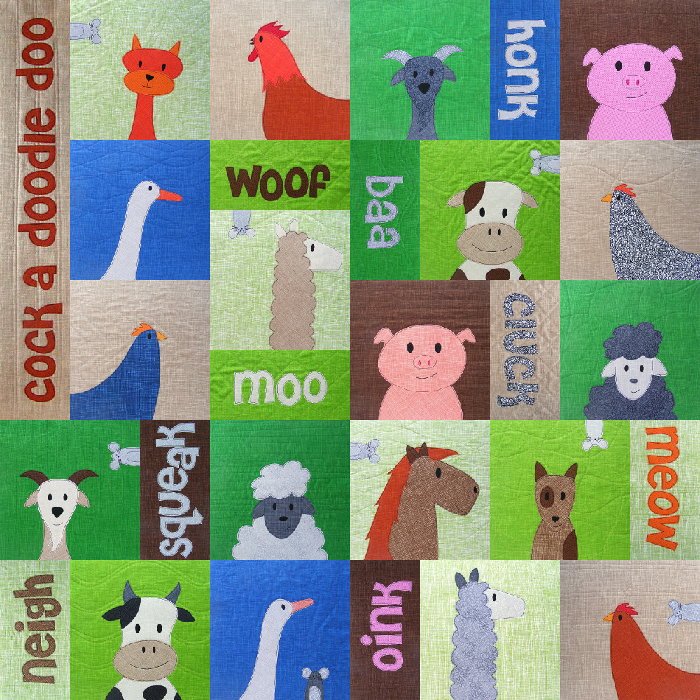 Animal Patchwork Quilt Patterns