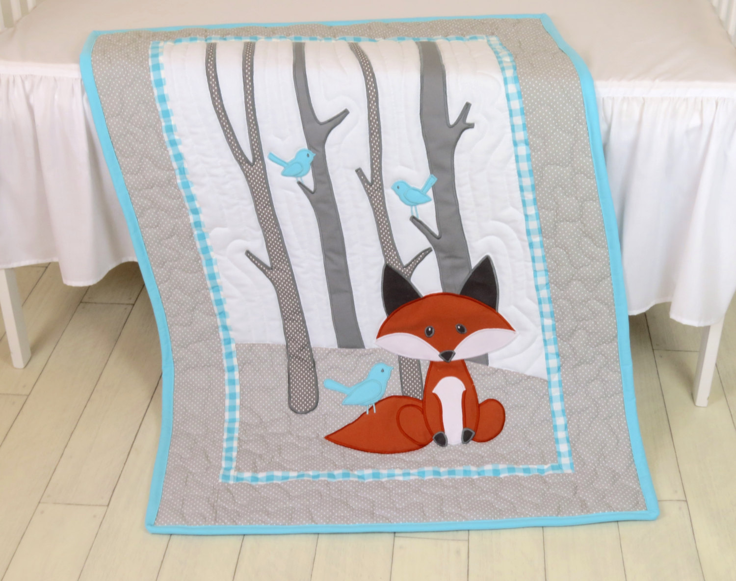 Image of: Applique Baby Quilt Fox