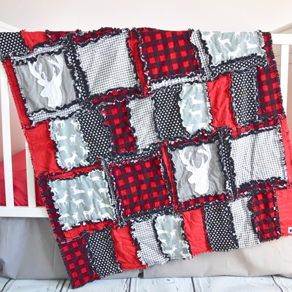 Picture of: Applique Baby Quilt Patterns Red