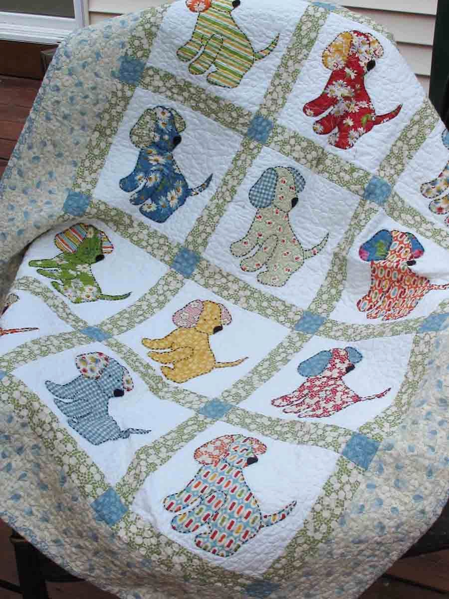 Image of: Applique Cross Stitch Baby Quilt Kits