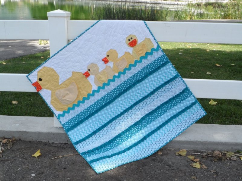 Image of: Baby Boy Quilt Patterns Easy
