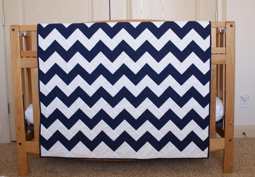 Image of: Baby Chevron Quilt Pattern