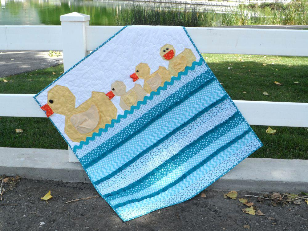Image of: Baby Girl Quilt Kits Blue