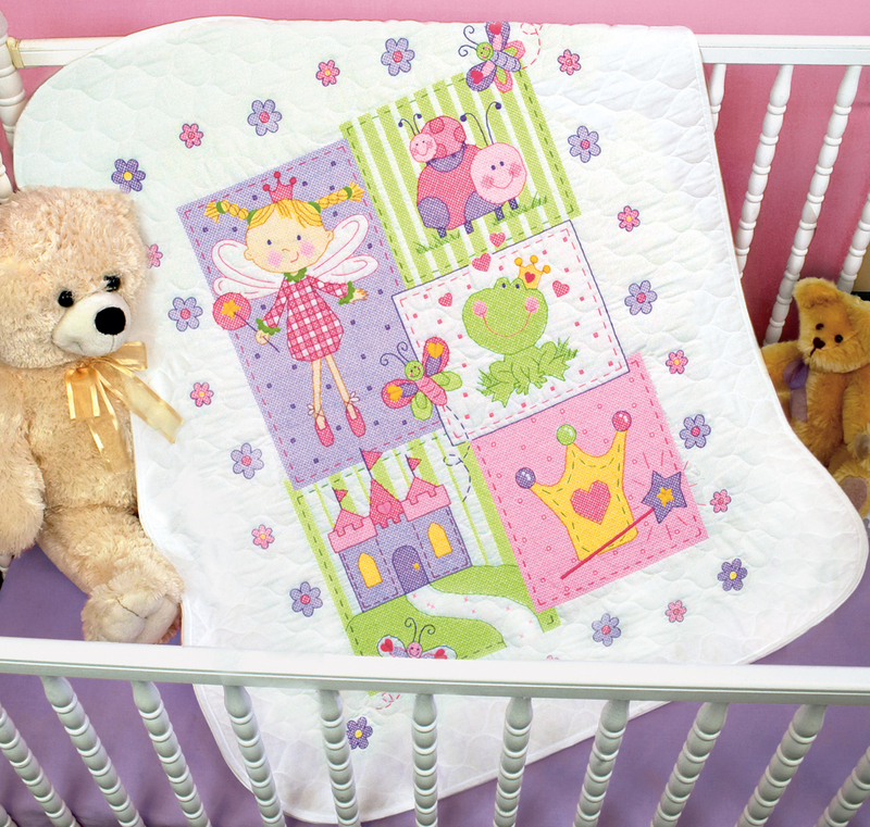 Image of: Baby Girl Quilt Kits Small