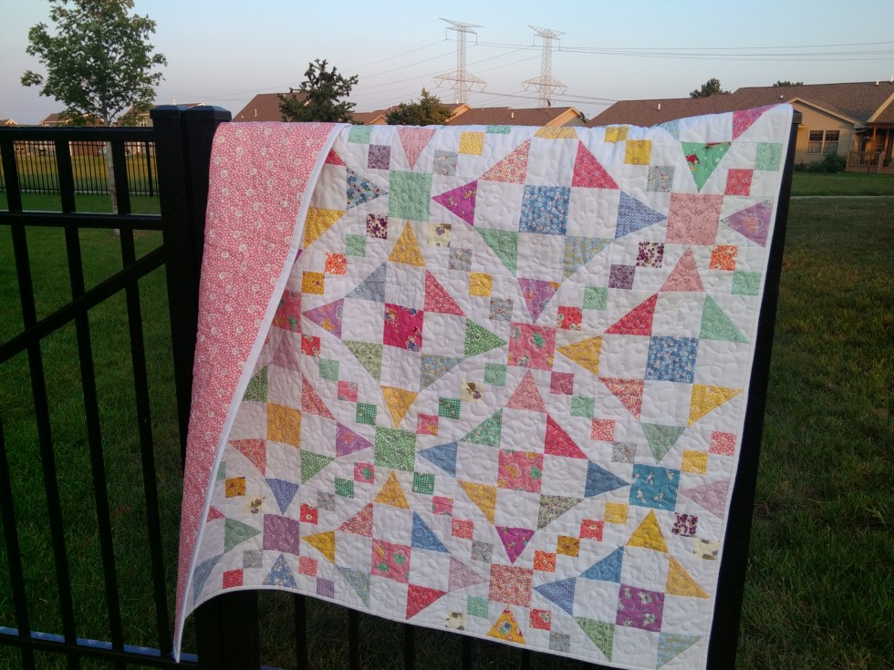 Image of: Baby Girl Quilt Patterns Color