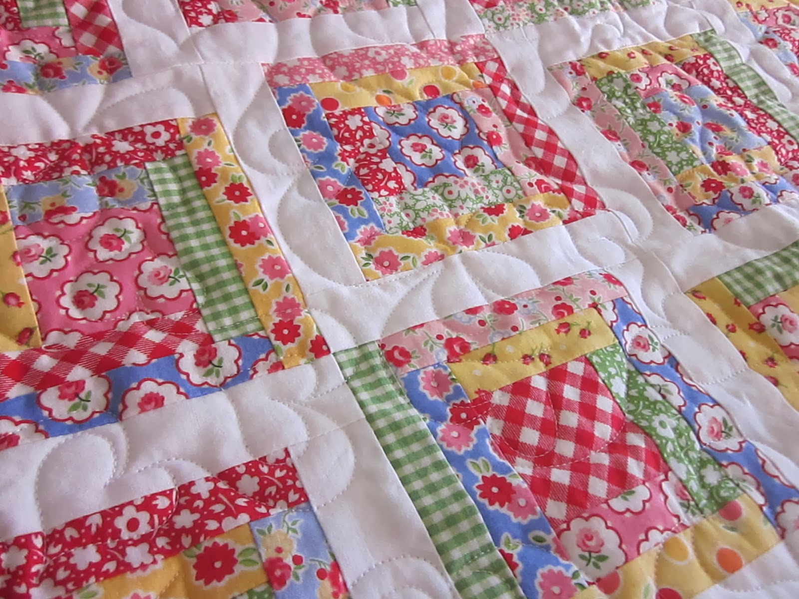 Image of: Baby Girl Quilts Fabric