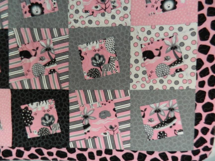 Image of: Baby Girl Quilts Flower