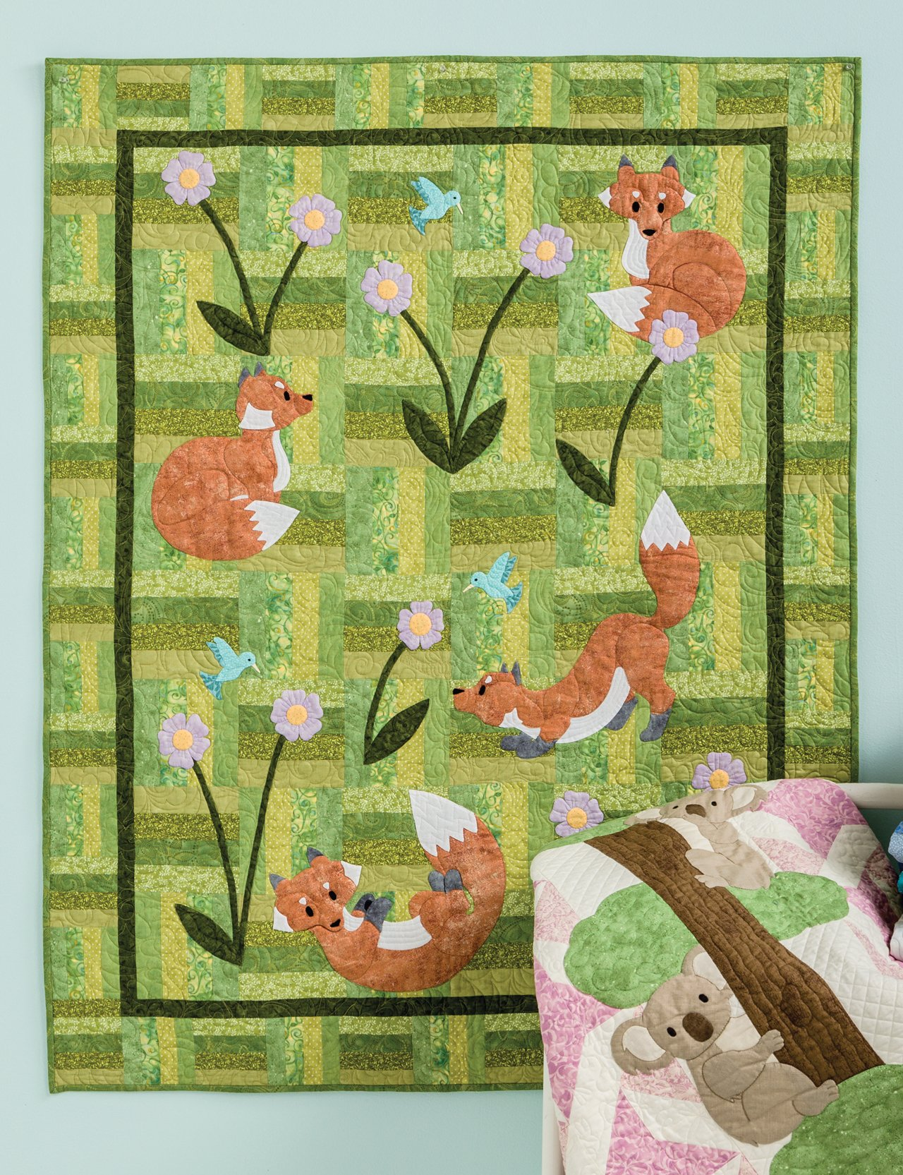 Image of: Baby Girl Quilts Green