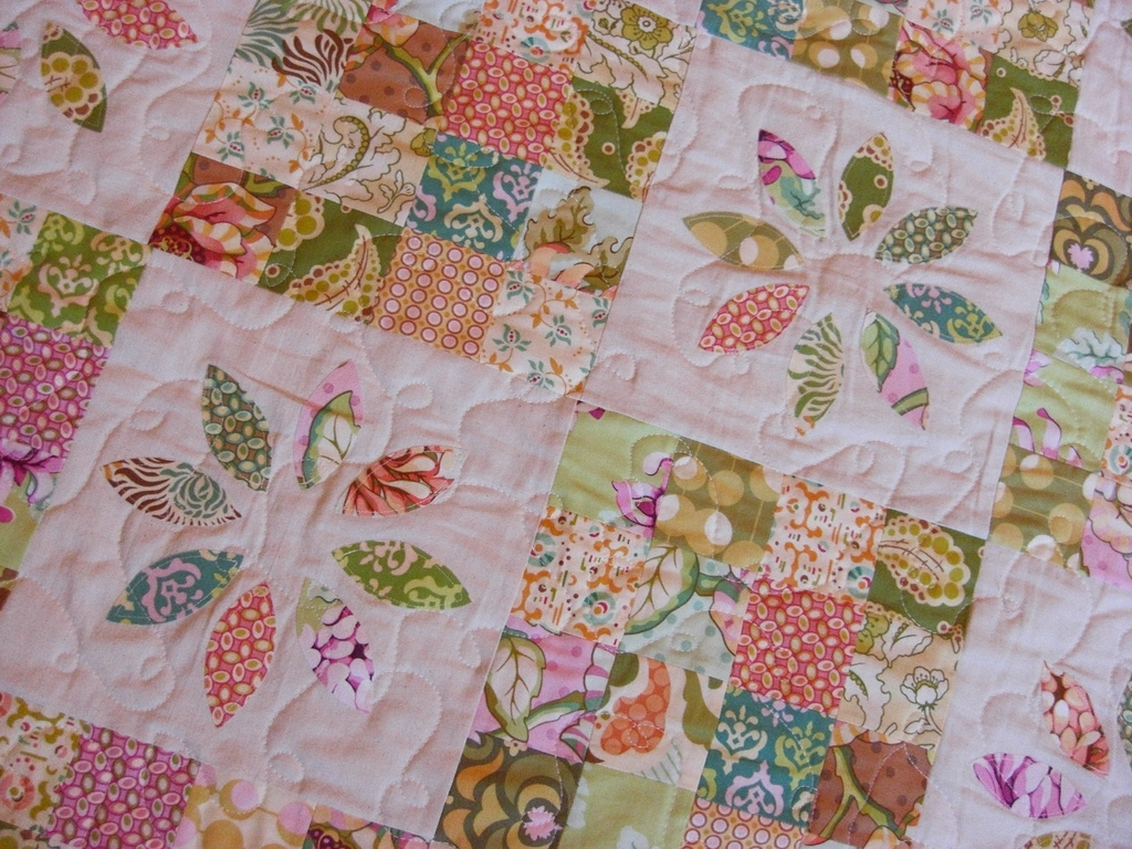 Image of: Baby Girl Quilts Theme