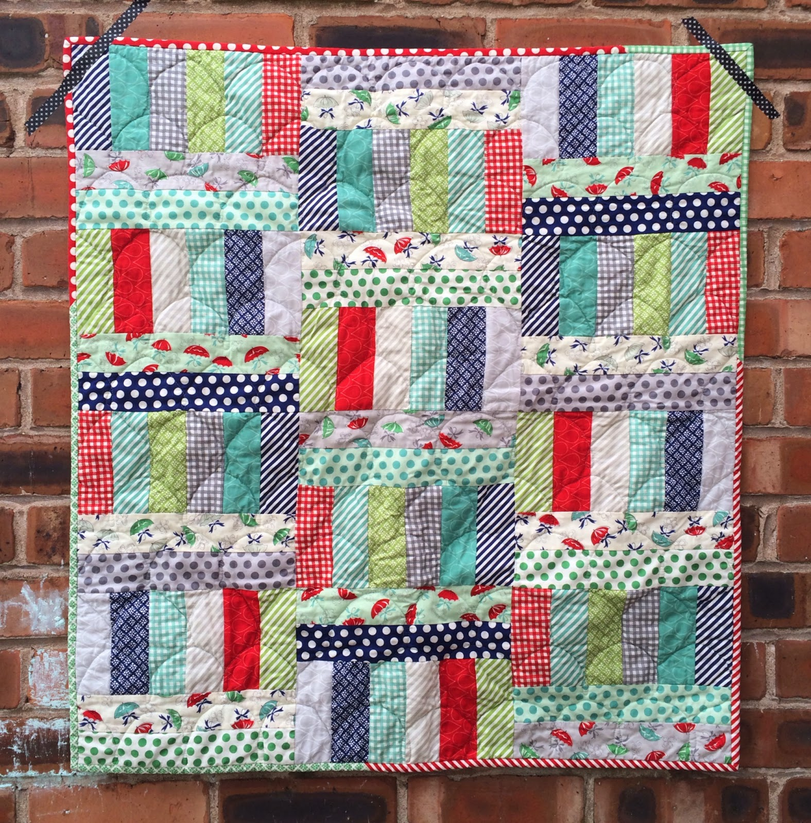 Image of: Baby Jelly Roll Baby Quilt
