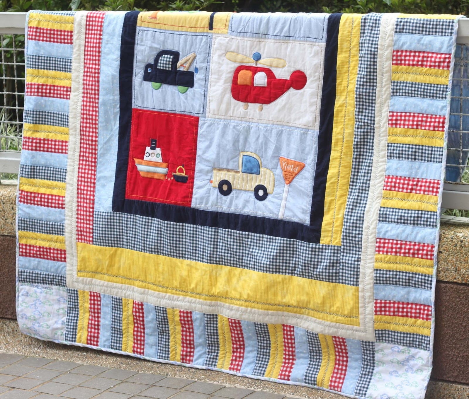 Image of: Baby Quilt Ideas Cars