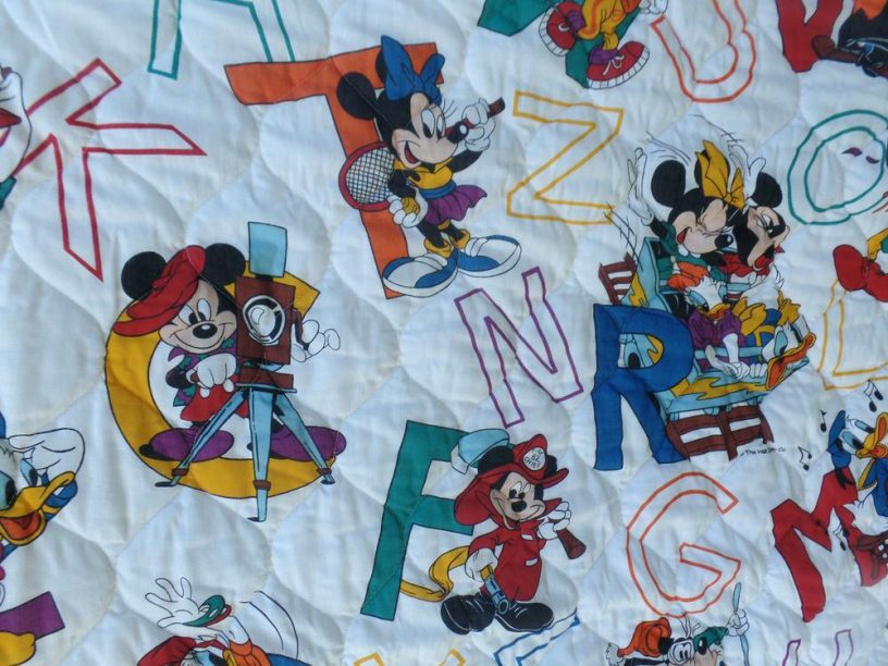 Image of: Baby Quilt Ideas Disney