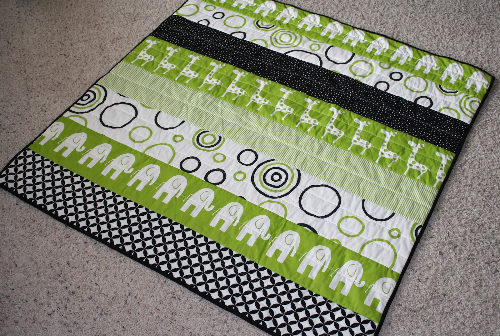 Image of: Baby Quilt Ideas Green