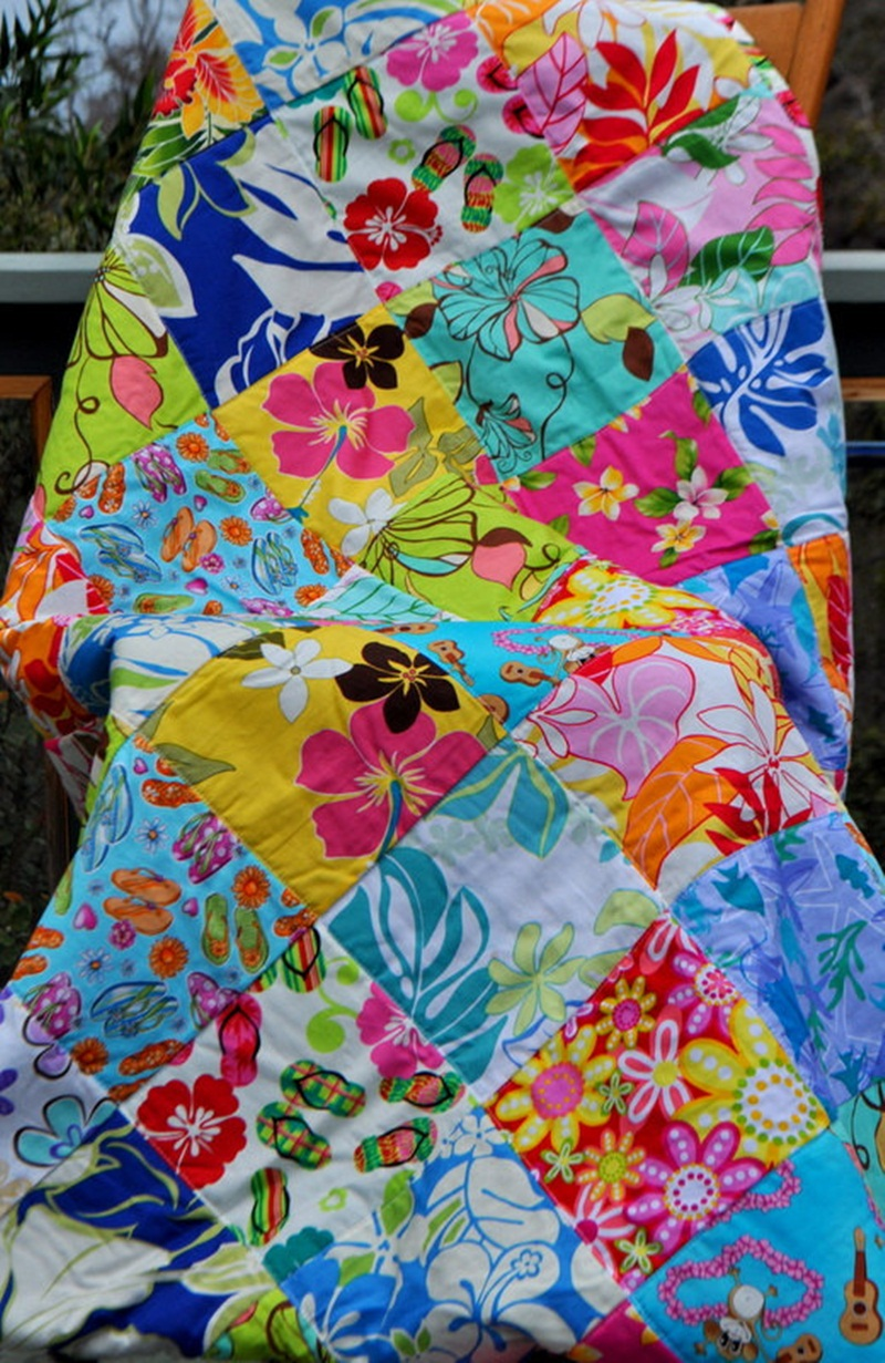 Image of: Beautiful Hawaiian Quilt Patterns