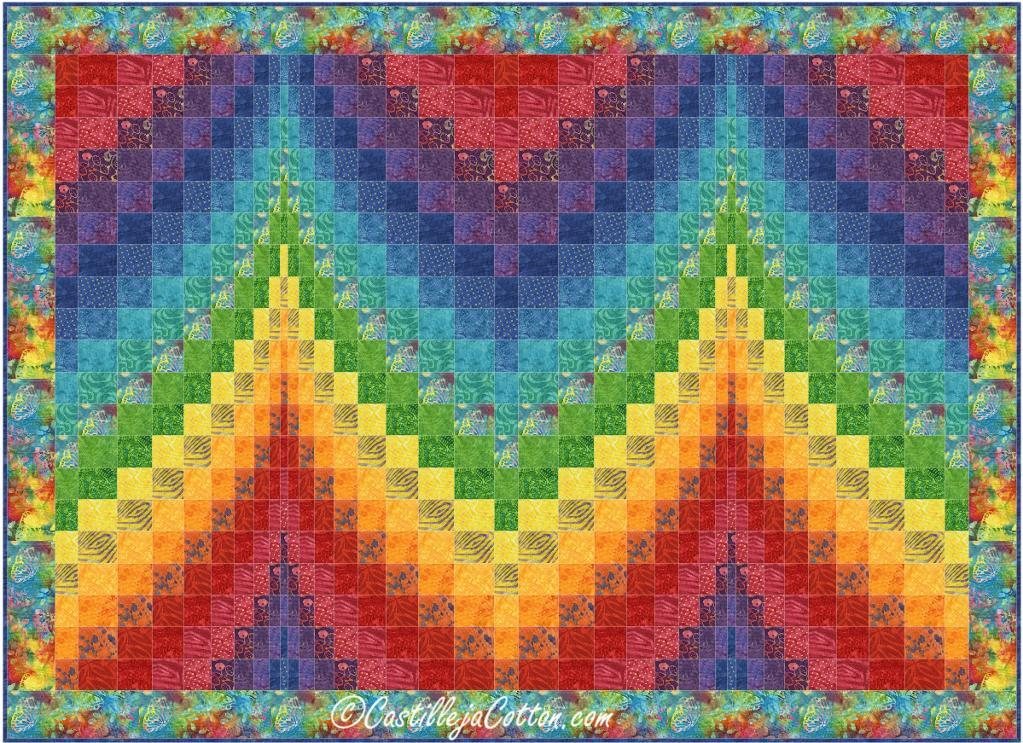Image of: Beauty Bargello Quilt Pattern