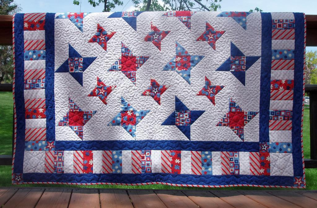 Image of: Big Size Patriotic Quilt Patterns