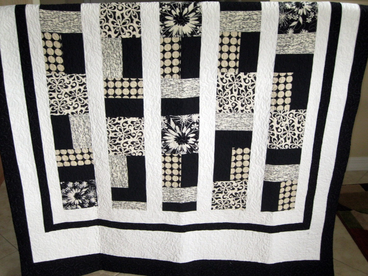 Black And White Quilt Patterns Contemporary