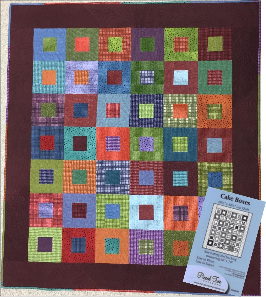 Image of: Brown Flannel Quilt Patterns