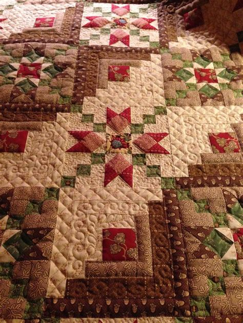 Picture of: Brown Log Cabin Quilt Pattern
