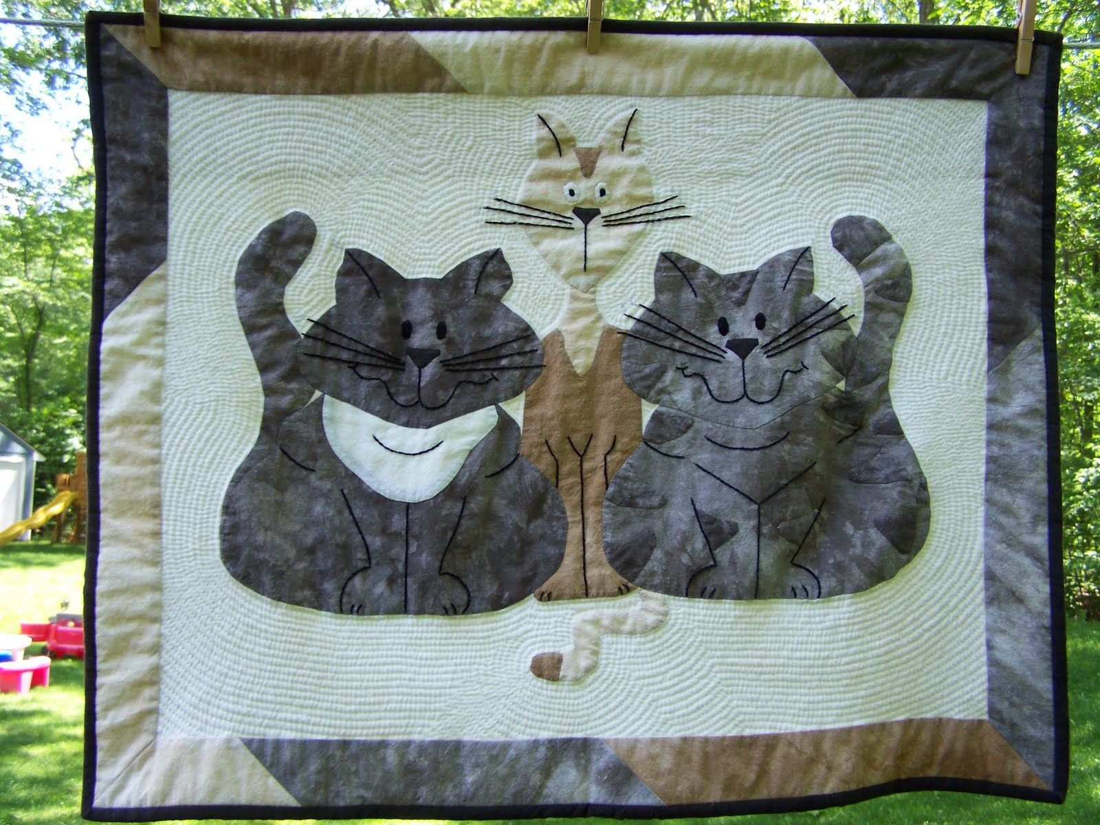 Image of: Cat Quilt Patterns Awesome