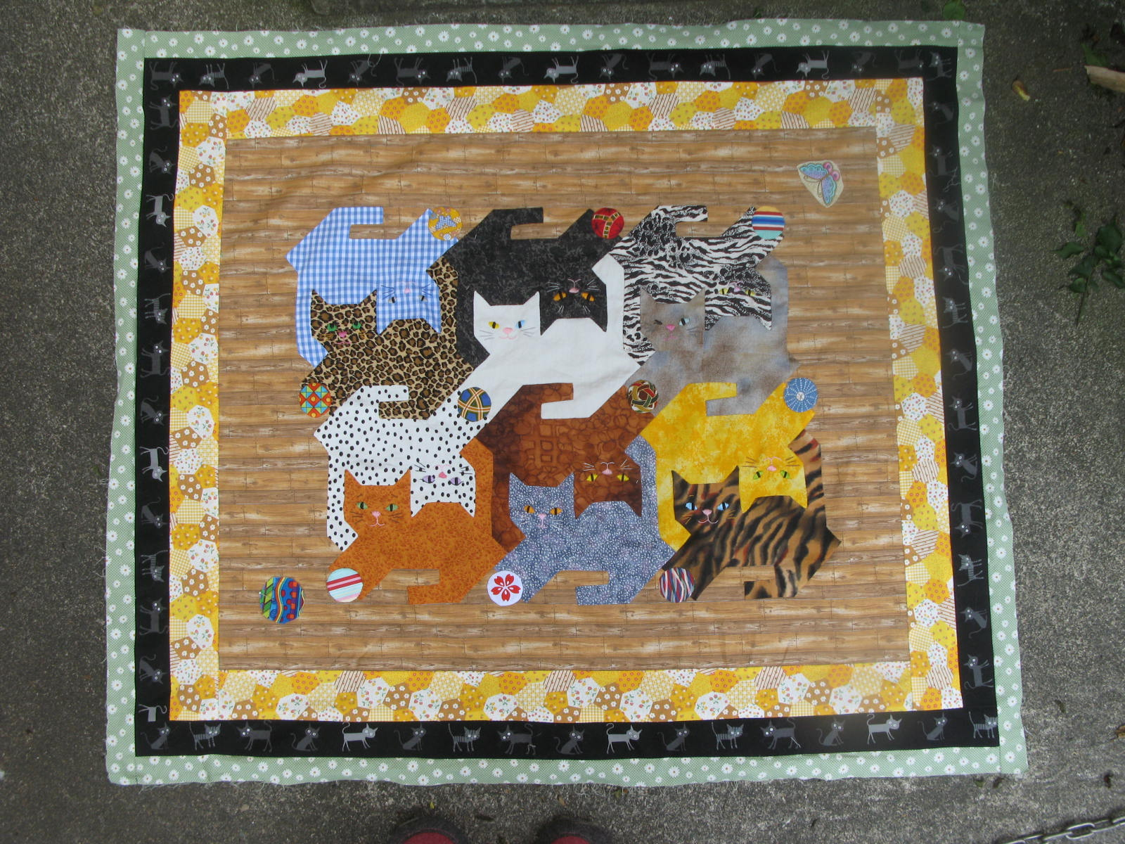 Image of: Cat Quilt Patterns Baby