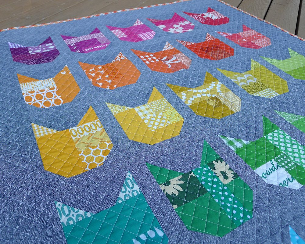 Image of: Cat Quilt Patterns Creation