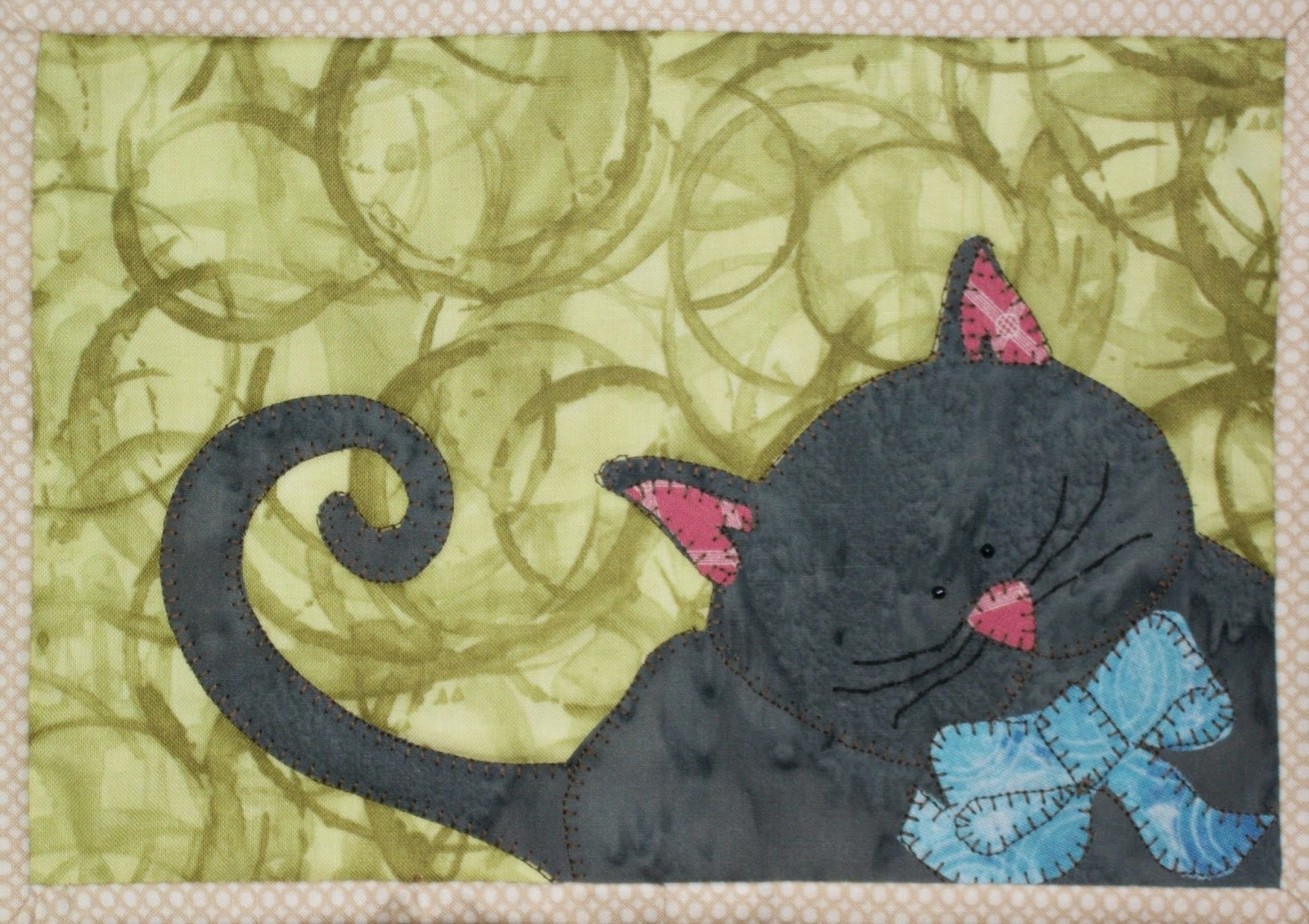 Image of: Cat Quilt Patterns Doodle
