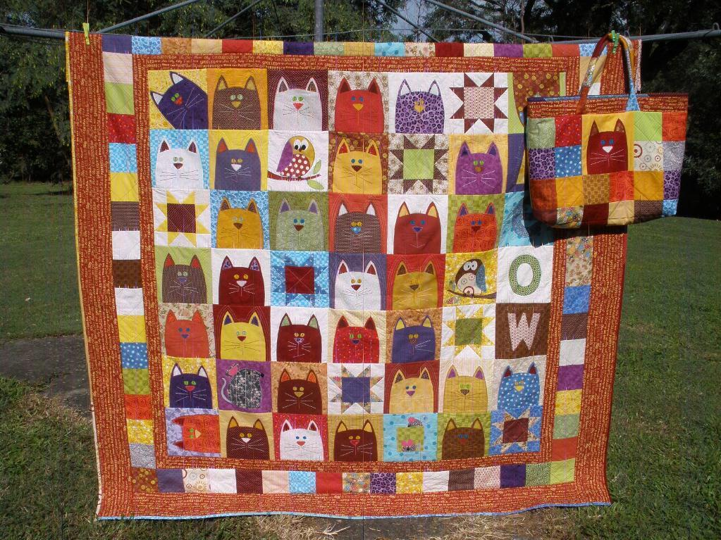 Image of: Cat Quilt Patterns Popular