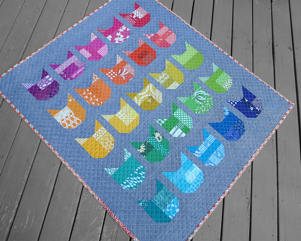 Image of: Cat Quilt Patterns Simple