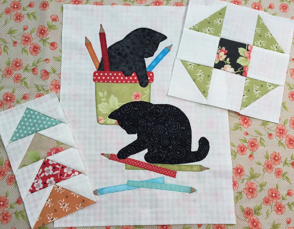 Image of: Cat Quilt Patterns Style