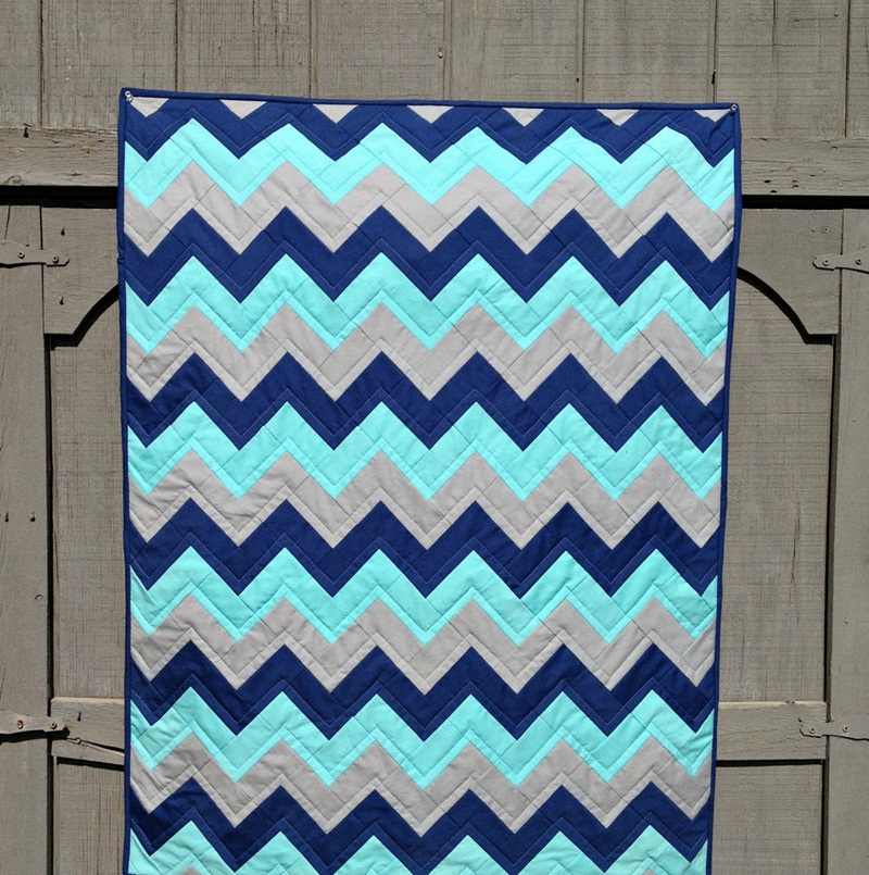 Image of: Chevron Quilt Pattern For Baby
