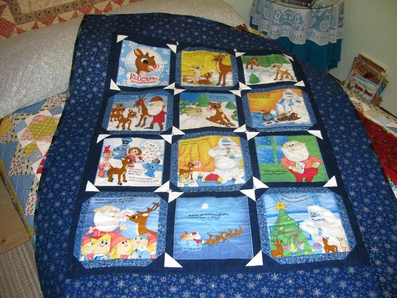 Picture of: Christmas Story Book Fabric Panels for Baby Quilts