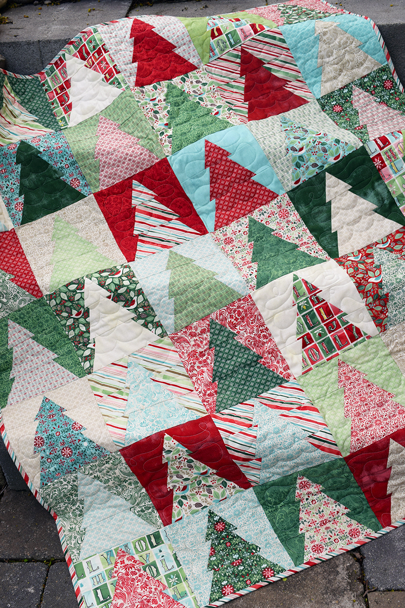 Image of: Christmas Tree Quilt Patterns Block