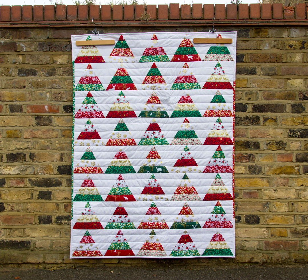 Image of: Christmas Tree Quilt Patterns