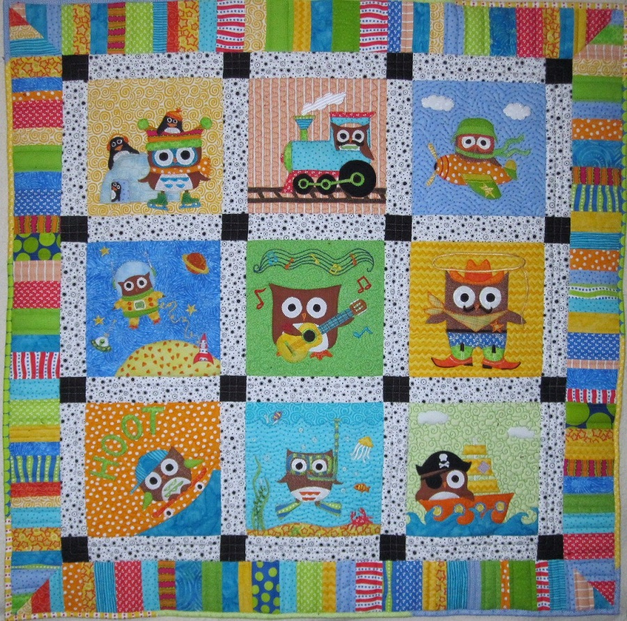 Image of: Colorful Baby Boy Quilt Ideas