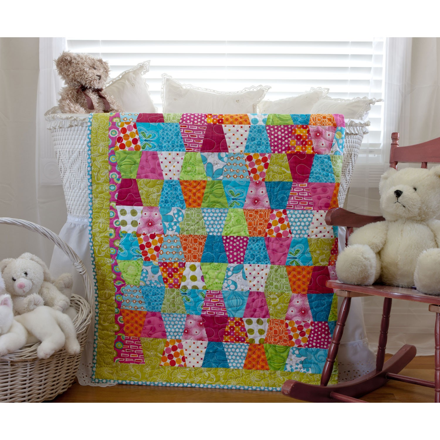 Image of: Colorful Baby Girl Quilts