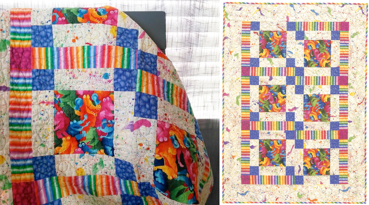 Image of: Colorful Baby Quilt Patterns