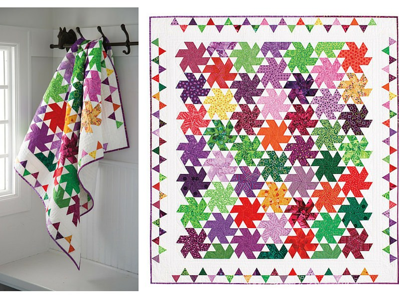 Image of: Colorful Pinwheel Quilt Pattern