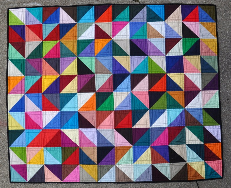 Colorful Triangle Quilt Patterns