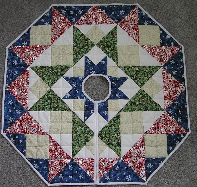 Image of: Concept Christmas Tree Skirt Quilt Patterns