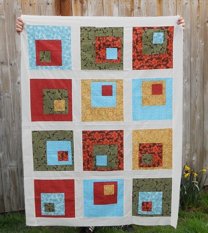 Picture of: Concrete Log Cabin Quilt Pattern