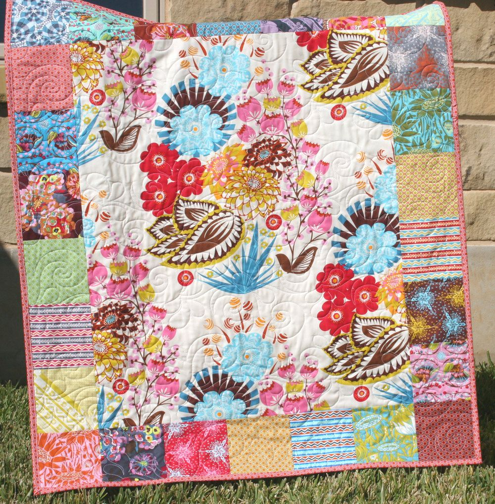 Image of: Contemporary Quilt Patterns Flower