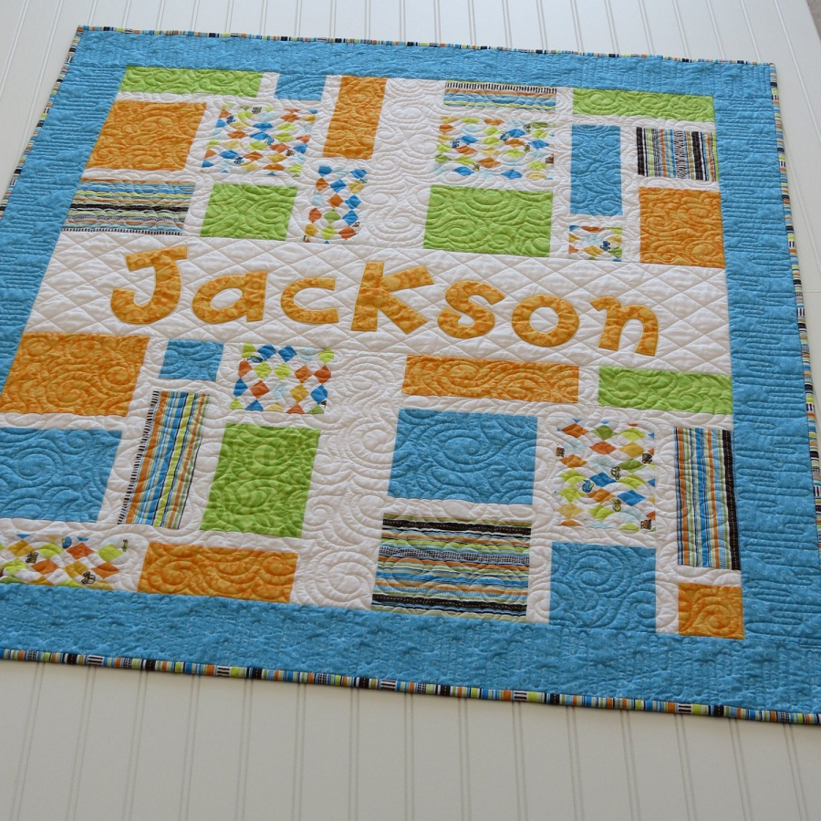 Picture of: Cool Personalized Baby Quilts