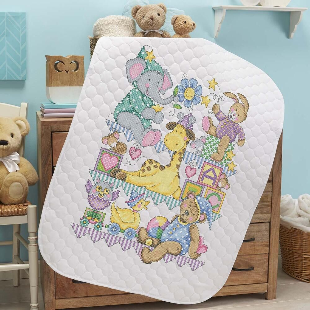 Image of: Counted Cross Stitch Baby Quilt Kits