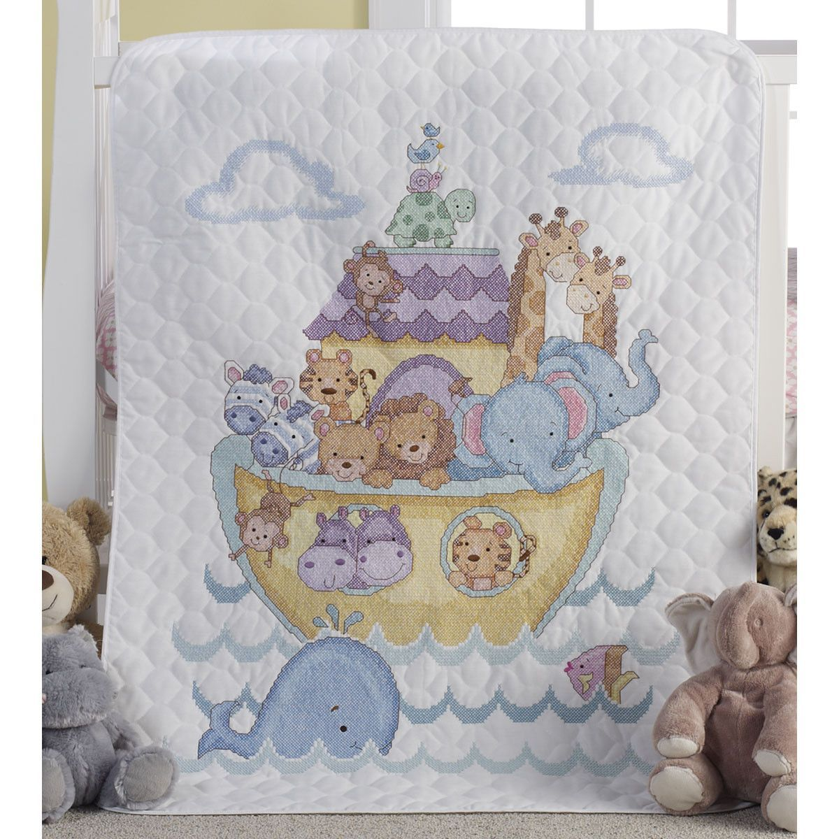 Crib Cover Cross Stitch Baby Quilt Kits
