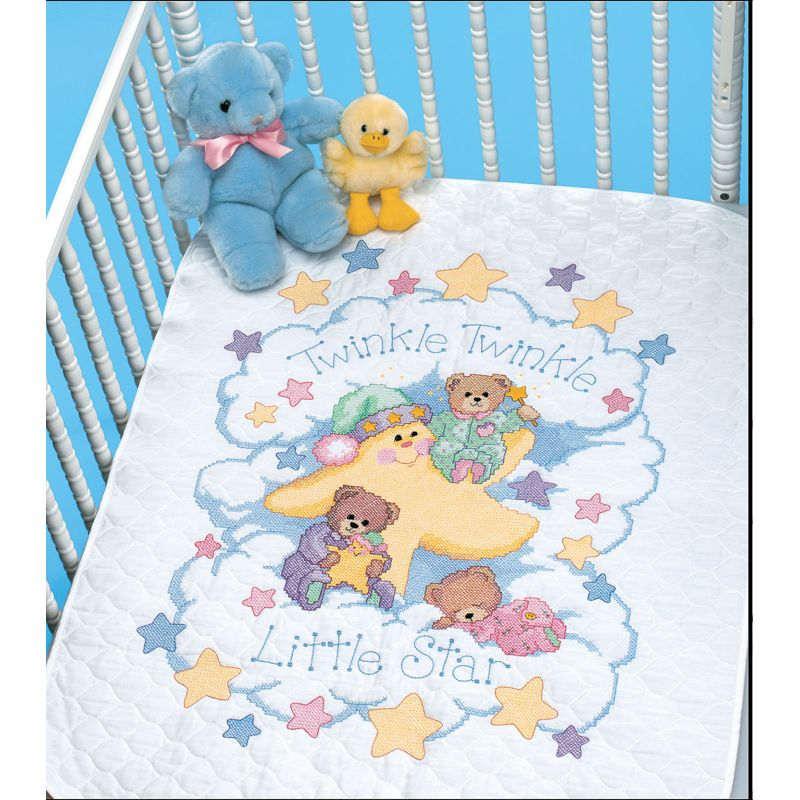 Image of: Cross Stitch Baby Quilt Kits Dimensions