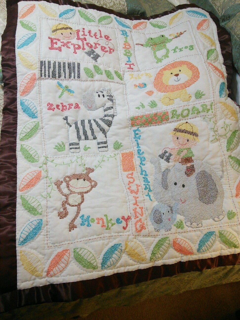 Image of: Cross Stitch Baby Quilts And Coverlets